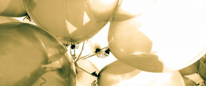 white balloons